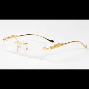 Cartier Gold Full Rim Double Panther Glasses